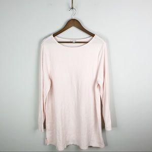 J. Jill Waffle Knit Andrea Tunic Sweater